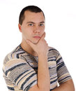 Portrait of a handsome thinking young man Royalty Free Stock Photo