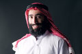 Portrait of a handsome young arabian man with a bushy beard Royalty Free Stock Photography