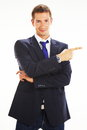 Portrait of a handsome young business man Stock Images
