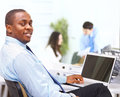 Portrait of smart African American business Royalty Free Stock Photo