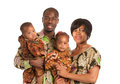 Portrait of Happy African American Family Isolated Stock Photo