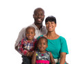 Portrait of happy african american family isolated smiling on white background Royalty Free Stock Photo