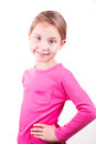 Portrait of a happy beautiful little girl smiling Royalty Free Stock Photo