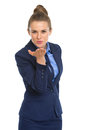 Portrait of happy business woman blowing kiss Royalty Free Stock Photo