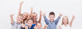 Portrait of happy children showing thumbs up Royalty Free Stock Photo