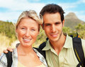 Portrait of a happy couple on a vacation Royalty Free Stock Photo