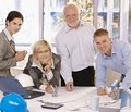Portrait of happy designer team in office Royalty Free Stock Photos