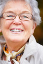 Portrait of a happy  elderly woman Royalty Free Stock Photos