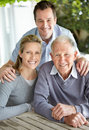 Portrait of a happy family smiling together Stock Photography