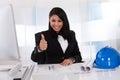 Portrait Of Happy Female Architect Royalty Free Stock Photo