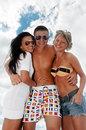 Portrait of happy friends enjoying vacations Royalty Free Stock Photo