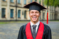 Portrait of a happy graduate male student - graduation concepts Royalty Free Stock Photo