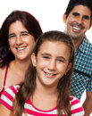 Portrait of a happy hispanic family Royalty Free Stock Photo
