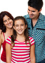 Portrait of a happy hispanic family Stock Images