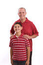 Portrait of a Happy Hispanic Father and son. Royalty Free Stock Photo