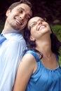 Portrait of happy joyful playful couple Stock Photo