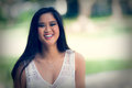 Portrait of a happy laughing Asian young woman - filter Royalty Free Stock Photo