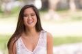 Portrait of a happy laughing Asian young woman Royalty Free Stock Photo