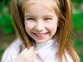 Portrait happy liitle girl close up Royalty Free Stock Photo