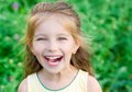 Portrait happy liitle girl close up Stock Photo