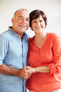 Portrait Of Happy Middle Aged Hispanic Couple Royalty Free Stock Photo