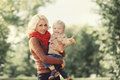 Portrait of happy mother and child playing and having fun Royalty Free Stock Photo
