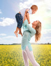 Portrait of happy mother with joyful son Royalty Free Stock Images