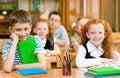 Portrait of happy school children