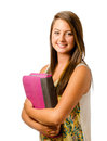 Portrait of happy smiling teenage schoolgirl Stock Photography