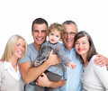 Portrait of a happy welcoming family Stock Photography