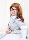 Portrait of happy young business woman Royalty Free Stock Images