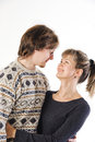 Portrait of happy young couple Stock Photography