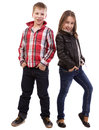 Portrait of  happy young kids Stock Photos