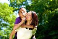 Portrait of a happy young mother with son Royalty Free Stock Photo