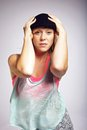 Portrait of hip hop dancer Royalty Free Stock Photography