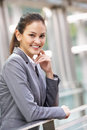 Portrait Of Hispanic Businesswoman Outside Office Royalty Free Stock Photography