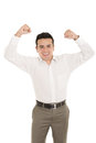 Portrait of a hispanic energetic young business man this image has attached release Stock Image