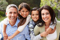 Portrait Of Hispanic Family In Countryside Royalty Free Stock Photo