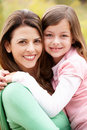Portrait Hispanic mother and daughter Stock Photos