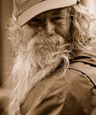 Portrait of a Homeless Man Stock Images
