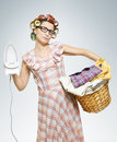 image photo : Portrait of Housewife