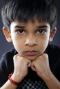 Portrait of indian boy posing to camera Stock Photos