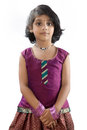 Portrait of indian little girl posing to camera Royalty Free Stock Photo