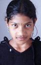 Portrait of indian village girl posing to camera Royalty Free Stock Photos