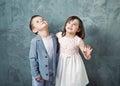Portrait of innocent chlidren cheerful Stock Images