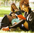 Portrait of international group of students close Royalty Free Stock Image