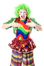 Portrait of joyful female clown Royalty Free Stock Photography