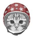 Portrait of Kitty with Helmet.