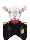 Portrait of Lamb n military uniform.