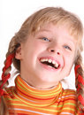 Portrait of laughing child. Royalty Free Stock Photography